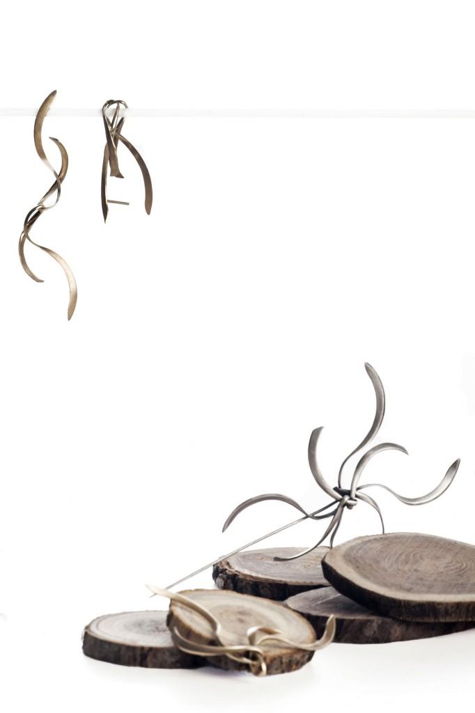 Aines joyas - Colección Olivos - pendientes de plata.