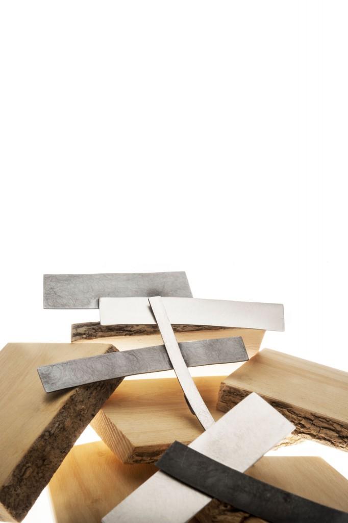 Aines joyas - Colección Japones - pendientes de plata.